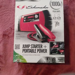 Schumacher SL1316 1000 Peak Amp Jump Start Portable Charger for Sale in Indianapolis, IN