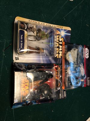 Star Wars collectible toys. New in packages. for Sale in Woodbury, PA