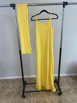 Yellow Dress & Waistline Tie for Sale in Tolleson, AZ
