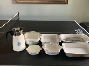 Blue sunflower Corningware-7 pieces for Sale in AZ, US