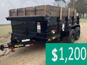 Price$12OO BIG-TEX 14LX 2017 hydraulic dump for Sale in Kansas City, MO