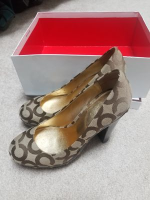 Brown/tan Coach heels for Sale in Mount Airy, MD