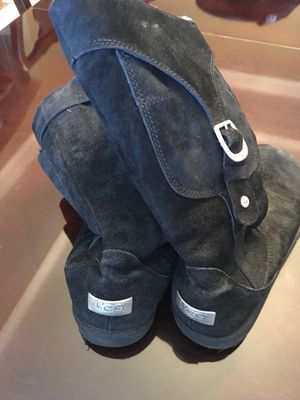 UGG Black Suede Tall Boots for Sale in Cumming, GA