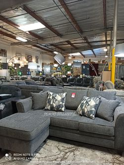 HOT DEAL, Slate Sofa Chaise with Decorative Pilow. for Sale in Huntington Beach,  CA