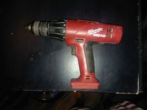 """MILWAUKEE 18 VOLT POWER PLUS 1/2"""" HAMMER DRILL WORKS GREAT for Sale in Las Vegas, NV"""