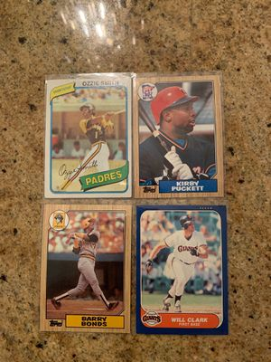 Barry Bonds and Will Clark Rookie Cards + Ozzie and Kirby for Sale in Mount Baldy, CA