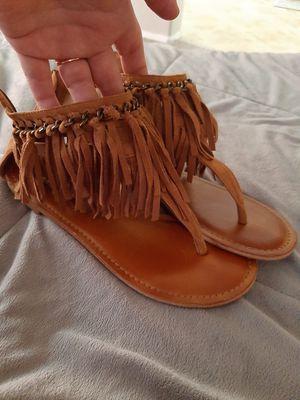 Size 8 soft fringe sandals for Sale in Chandler, AZ