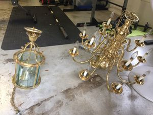 Chandelier and hanging lantern. Must take both. for Sale in San Antonio, TX