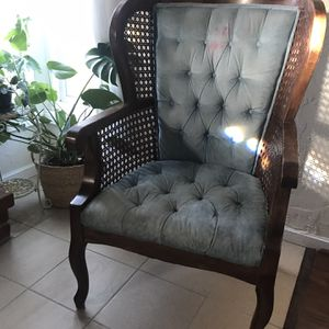 Vintage Antique Lewittes Cane Wingback Chair for Sale in Bremerton, WA
