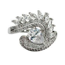 Silver sparkling luxury crystal ring for Sale in Redwood City,  CA