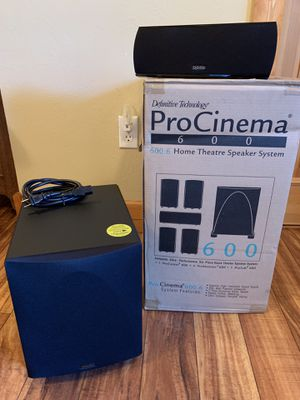 Definitive Technology ProCinema 600 6-Piece 5.1 Channel Home Theater Speaker System for Sale in Denver, CO