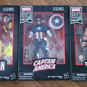 Marvel Legends 80th Anniversary CAPTAIN AMERICA, IRON MAN & THOR Set of 3 Avengers for Sale in Monterey Park, CA