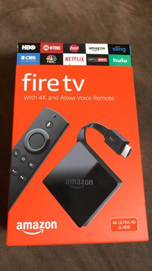 Amazon Fire tv 4K with Alexa voice remote for Sale in East Bridgewater, MA