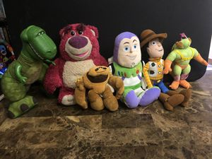 Toy story lot Disney plushies for Sale in Goodyear, AZ
