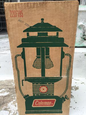 1970's NOS Coleman Two Mantle Floodlight Green for Sale in Saint Petersburg, FL