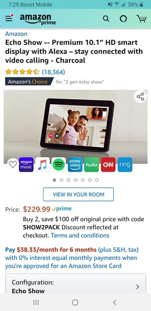 Echo show 10.1 display for Sale in West York, PA
