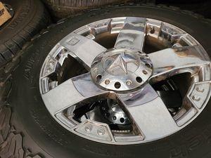 "Wheels and tires lt 275/65r20"" 6 lug Silverado Tahoe Yukon suburban escalade avalanche gmc 6x5,5 or 6x139,7 , f150 explore navigator for Sale in Riverside, CA"