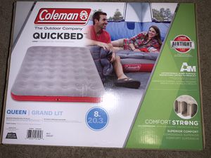 Coleman QuickBed Single High Air Mattress - Gray QUEEN new for Sale in San Marcos, CA