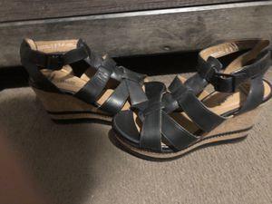 Clark Black leather heels size 7.5 for Sale in El Paso, TX