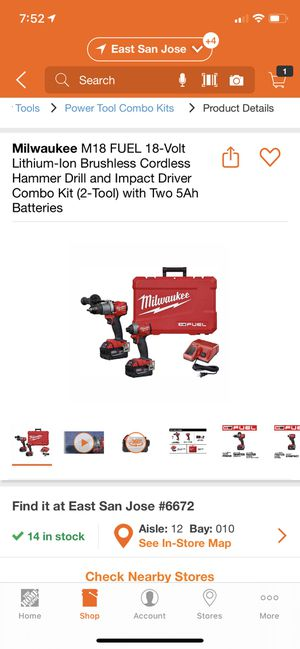 Milwaukee 2997-22 drill kit for Sale in San Jose, CA