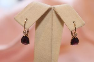 Solid 14kt Yellow Gold Diamond And Colored Stone Earrings for Sale in Gilbert, AZ