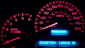 Used GM OEM Instrument Gauge Cluster with Red LED Upgrade in Just like New Condition! for Sale in Gonzales, LA