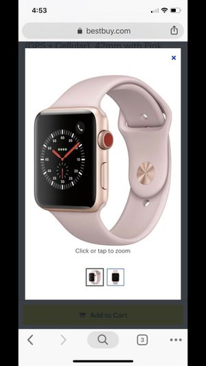 Apple Watch Series 3 LTE & GPS - extra charger and band included for Sale in Jacksonville, FL