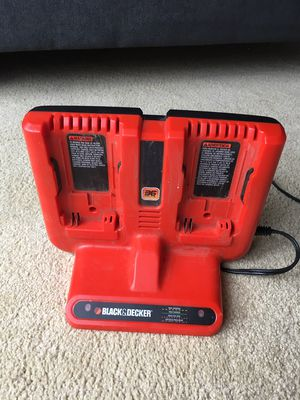 Like new Black and Decker 36v dual battery charger XRC360 charges lawn mower hedge trimmer weed eater chain saw edger trencher blower drill polecutter for Sale in Bellevue, WA