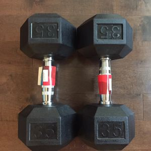 35 lbs Rubber hex Dumbbells! Brand New for Sale in Northbrook, IL