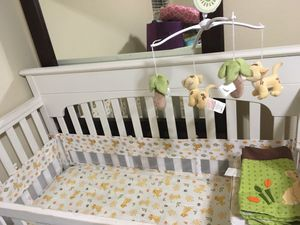 White baby bed with mattress for Sale in Fort Worth, TX