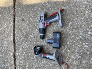 Craftsman drill and flashlight for Sale in Canton, OH