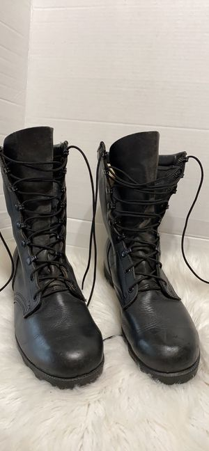 Men work army boots size 10 wide for Sale in Dearborn, MI