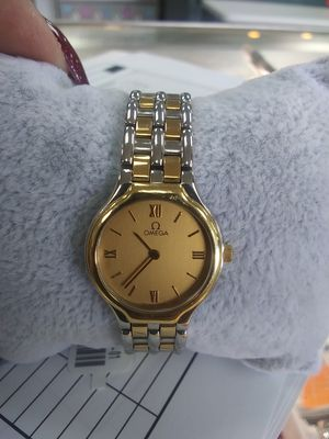 Silver and gold Omega watch for Sale in Houston, TX