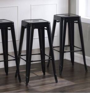 New in box $30 each 16x16x30 Inches Tall Steel Stackable Iron Metal Chair Bar Counter Height Stool Barstool Black White or Gunmetal Color for Sale in Los Angeles, CA