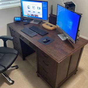 Office Desk And Printer Stand/file Cabinet for Sale in Puyallup, WA