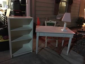 Desk, Chair, Shelve, and Lamp for Sale in Hayward, CA