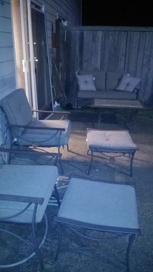 Patio Furniture 6 pc Set for Sale in Parkland, WA