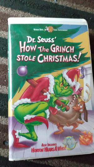 Dr Seuss's How the Grinch stole Christmas vhs for Sale in Gastonia, NC