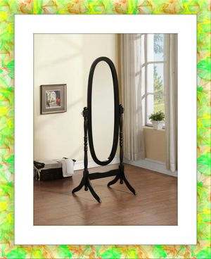 Black swivel mirror oval for Sale in Rockville, MD