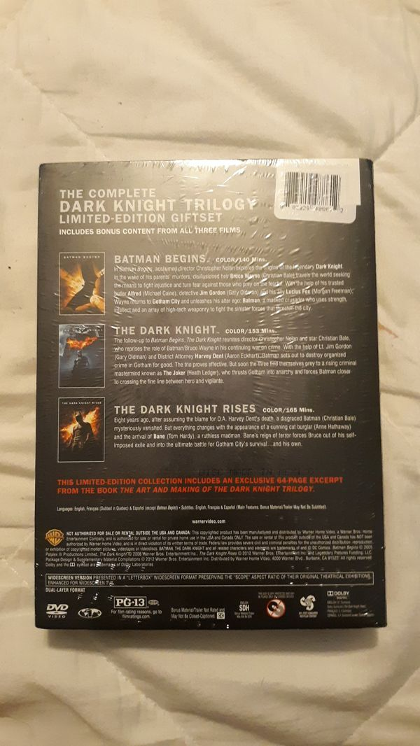 The Dark Night Trilogy DVD ( Brand New, Never Opened )