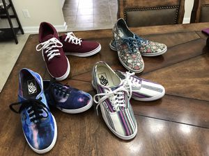 Beautiful unisex vans shoes . See pictures for sizes ,Sizes are in the pictures. for Sale in Sandston, VA