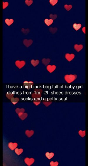 Big bag full of baby girl clothes and shoes and potty seat for Sale in West Palm Beach, FL