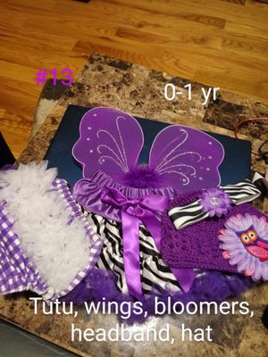 Infant girls tutu wings headband bloomers for Sale in Eau Claire, WI