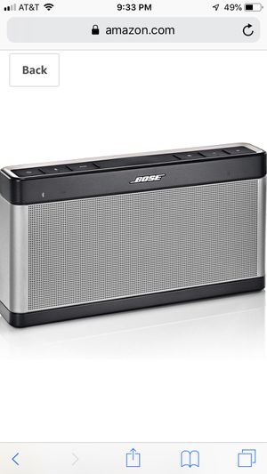 Bose SoundLink Bluetooth Speaker III for Sale in Columbus, OH
