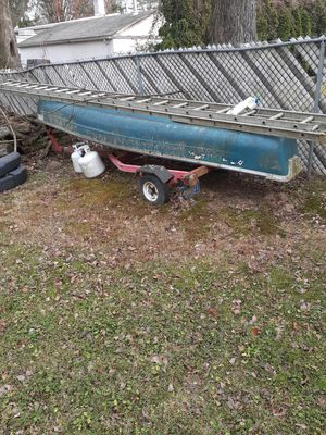 Coleman scanoe and johnson 5 hp motor with trailer for Sale in Levittown, PA