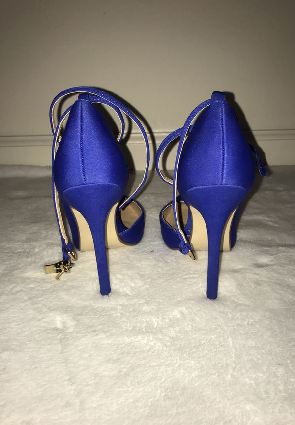 JUSTFAB royal blue pointed heels size:7.5