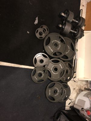 Weight set and bench for Sale in Westminster, CO
