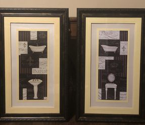 "Set of Frame Bathroom Wall Art 33"" by 20"" for Sale in Clermont,  FL"
