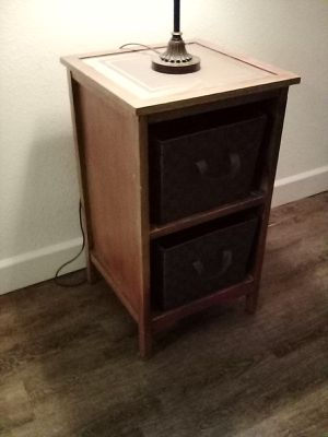 End table, night stand, tv stand with lamp for Sale in Fresno, CA