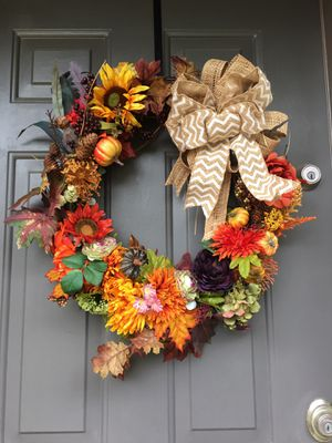 Handcrafted Autumn wreath for Sale in Evesham Township, NJ